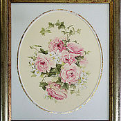 Картины и панно ручной работы. Ярмарка Мастеров - ручная работа Жасмин и розы. Handmade.