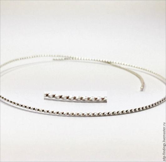 Для украшений ручной работы. Ярмарка Мастеров - ручная работа. Купить 30см Серебряная фигурная лента 1.2мм C000396. Handmade.