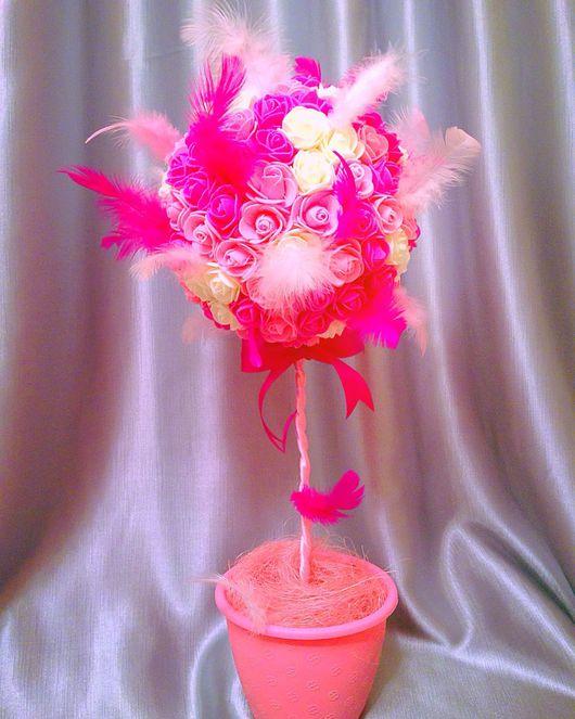 """Топиарии ручной работы. Ярмарка Мастеров - ручная работа. Купить Топиарий """"Нежность"""". Handmade. Топиарий, топиарий дерево счастья, цветы"""