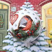 Сувениры и подарки handmade. Livemaster - original item Christmas decorations: Christmas ball bullfinch. Handmade.