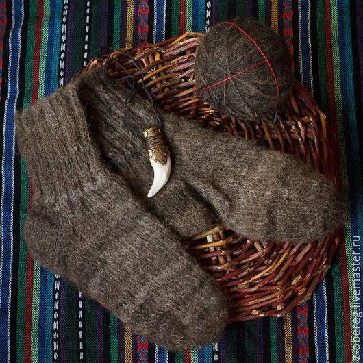 Этническая одежда ручной работы. Ярмарка Мастеров - ручная работа. Купить Носки из шерсти Медведя.. Handmade. Шерсть медведя