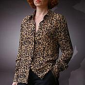 Одежда ручной работы. Ярмарка Мастеров - ручная работа Строгая блуза с потайной застежкой. Handmade.