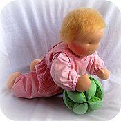 Вальдорфские куклы и звери ручной работы. Ярмарка Мастеров - ручная работа Вальдорфская кукла-младенец  (на пуговичках)40 см. Handmade.