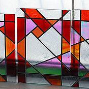 """Для дома и интерьера ручной работы. Ярмарка Мастеров - ручная работа Витражики """"Мини-геометрия"""". Handmade."""