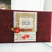 Свадебный салон ручной работы. Ярмарка Мастеров - ручная работа Свадебный альбом в цвете марсала. Handmade.