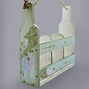 Для дома и интерьера ручной работы. Ярмарка Мастеров - ручная работа Бутылочница. Handmade.