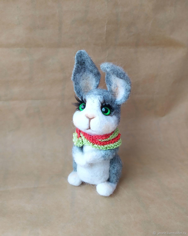 felt toy: Bunny, Felted Toy, Novosibirsk,  Фото №1