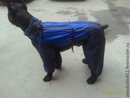 Одежда для собак, ручной работы. Ярмарка Мастеров - ручная работа. Купить Комбинезон  дождевик для крупных собак. Handmade. Желтый, для животных