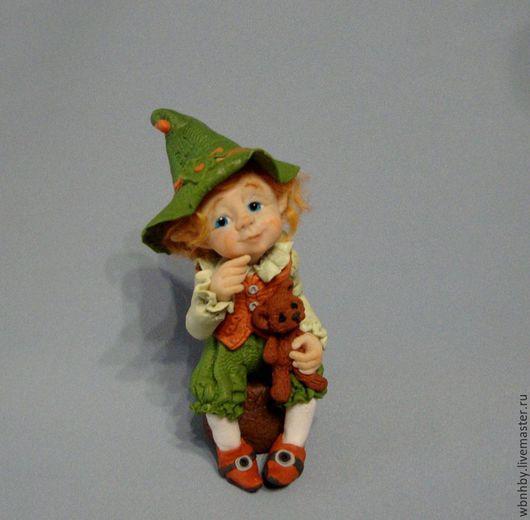 Коллекционные куклы ручной работы. Ярмарка Мастеров - ручная работа. Купить Эльфик-Сантик. Handmade. Комбинированный, милый подарок
