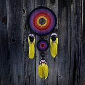 Ловец снов ручной работы. Ярмарка Мастеров - ручная работа Ловец снов Большой Радужный. Handmade.