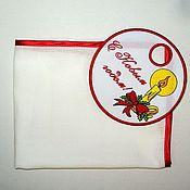 """Для дома и интерьера ручной работы. Ярмарка Мастеров - ручная работа Полотенчик """" С Новым Годом !"""". Handmade."""