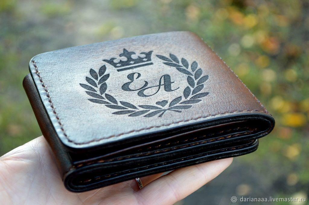 Personalized men's leather wallet №33, Wallets, Sizran,  Фото №1
