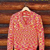 """Одежда ручной работы. Ярмарка Мастеров - ручная работа Пуловер из микрофибры """"Осенний фейерверк"""". Handmade."""