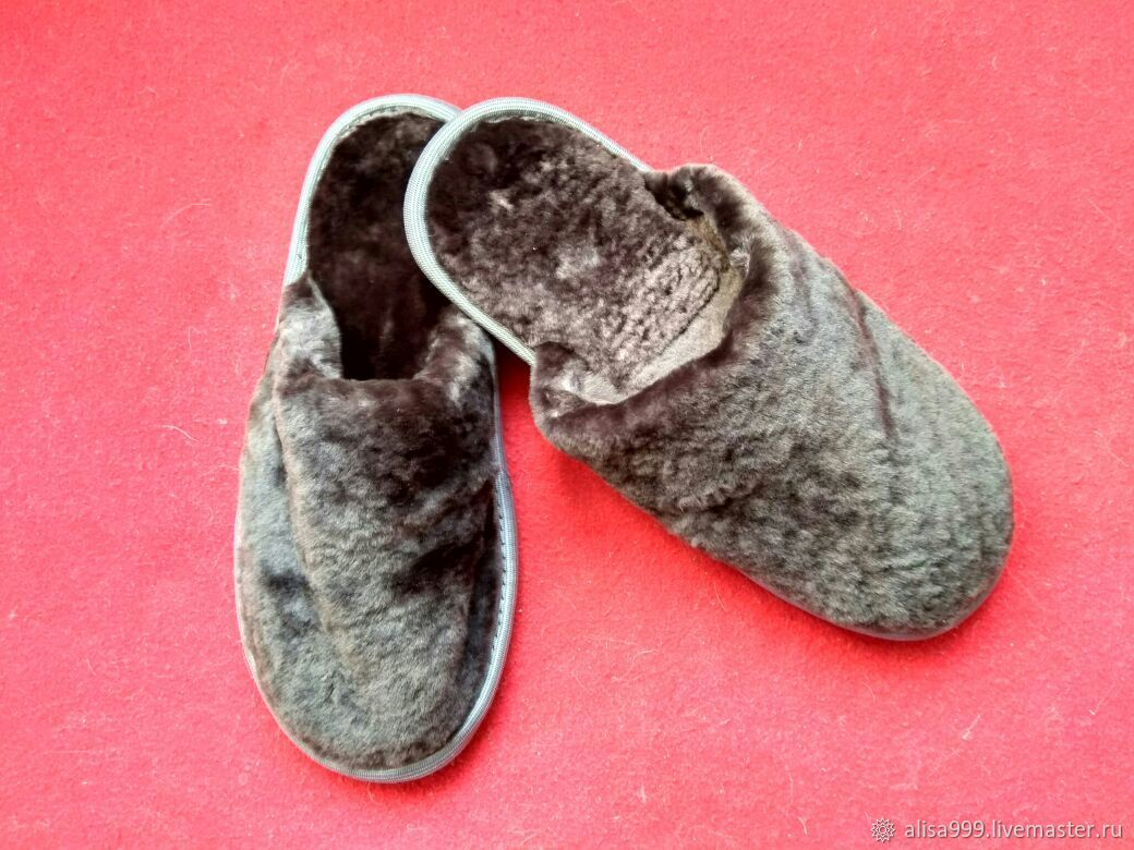 Sheepskin Slippers 36 closed Cape, Slippers, Moscow,  Фото №1