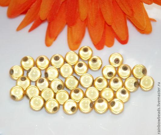 Для украшений ручной работы. Ярмарка Мастеров - ручная работа. Купить Бусины Miracle beads (Копия) золотые. Handmade. Золотой