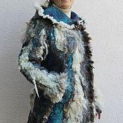 """Одежда ручной работы. Ярмарка Мастеров - ручная работа Пальто валяное """"Штормовое предупреждение"""". Handmade."""