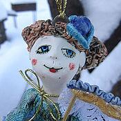 """Сувениры и подарки ручной работы. Ярмарка Мастеров - ручная работа Колокольчик """"Дама-коломбина"""". Handmade."""