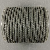 Материалы для творчества handmade. Livemaster - original item 50 cm braided GREY leather Cord 5 mm (2808). Handmade.