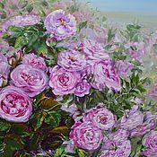 """Картины и панно ручной работы. Ярмарка Мастеров - ручная работа Картина маслом """"Розовые розы"""". Handmade."""