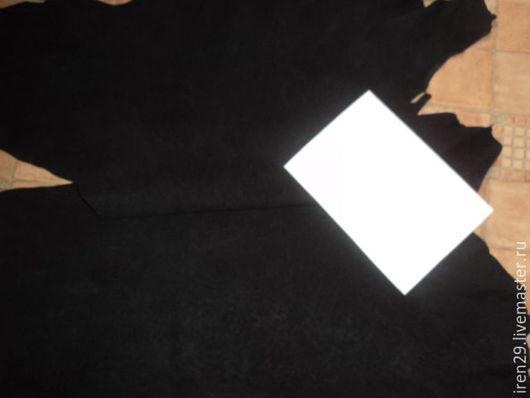 """Шитье ручной работы. Ярмарка Мастеров - ручная работа. Купить Натуральная кожа """"Черный"""". Handmade. Кожа, черный"""