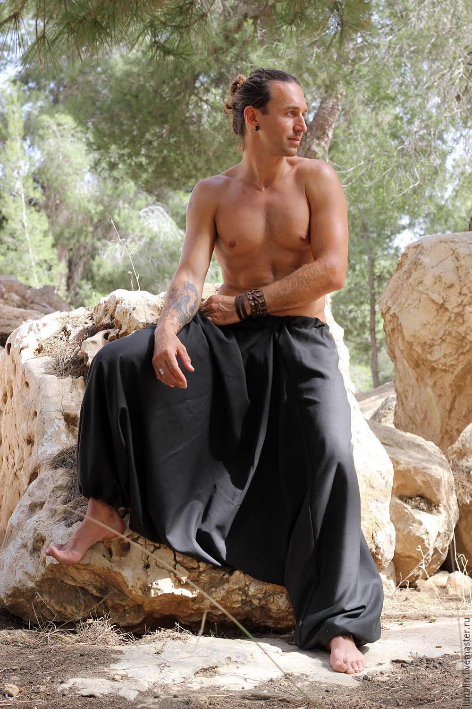 Штаны Али-баба для мужчин с карманами, Брюки шорты, Бээр-Шева, Фото №1