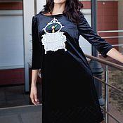 """Одежда ручной работы. Ярмарка Мастеров - ручная работа Дизайнерское платье из бархата""""Винтаж"""". Handmade."""