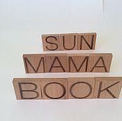 """Мягкие игрушки ручной работы. Ярмарка Мастеров - ручная работа Магнитный английский алфавит из дерева """"Litterawood"""". Handmade."""