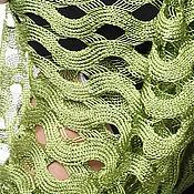 Материалы для творчества ручной работы. Ярмарка Мастеров - ручная работа Роскошное полотно вязаное из шелка очень мягкое и пластичное Зигзаг. Handmade.