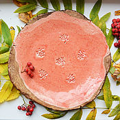 Посуда ручной работы. Ярмарка Мастеров - ручная работа Тарелка в цветочек. Handmade.