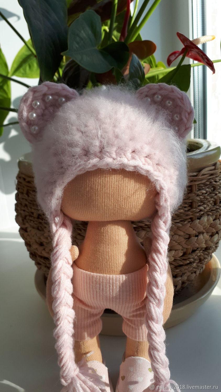 шапочка ,, мишка,, для текстильной куклы, Одежда для кукол, Карпинск,  Фото №1