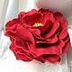 Заколки ручной работы. Ярмарка Мастеров - ручная работа. Купить Бордовая роза из фоамирана - Тоскана. Продана. Возможен повтор.. Handmade.