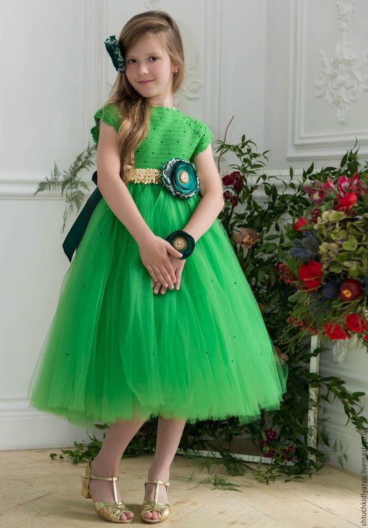 Одежда для девочек, ручной работы. Ярмарка Мастеров - ручная работа. Купить Авторское пышное платье ручной работы. Handmade. Комбинированный