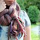 Шарфы и шарфики ручной работы. Ярмарка Мастеров - ручная работа. Купить Длинный шарф Цветущий сад. 100% шерсть.. Handmade.