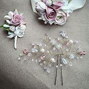 Свадебный салон ручной работы. Ярмарка Мастеров - ручная работа Свадебное украшение для прически. Handmade.