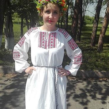 Одежда ручной работы. Ярмарка Мастеров - ручная работа Традиционная женская рубаха с вышивкой. Handmade.