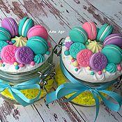 Банки ручной работы. Ярмарка Мастеров - ручная работа Вкусная баночка со сладостями из полимерной глины. Handmade.