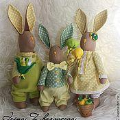 Куклы и игрушки ручной работы. Ярмарка Мастеров - ручная работа Семья Зайчиков. Handmade.
