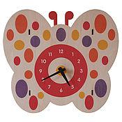Для дома и интерьера ручной работы. Ярмарка Мастеров - ручная работа Настенные часы «Бабочка». Эксклюзивный дизайн от WOOBEE. Handmade.