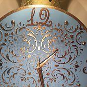 Для дома и интерьера ручной работы. Ярмарка Мастеров - ручная работа Часы настенные Барокко в голубом. Handmade.