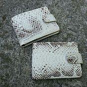 Wallets handmade. Livemaster - original item Wallet genuine Python skin. Handmade.