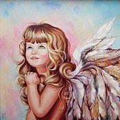 Картины и панно ручной работы. Ярмарка Мастеров - ручная работа Картина маслом Мой ангел. Handmade.