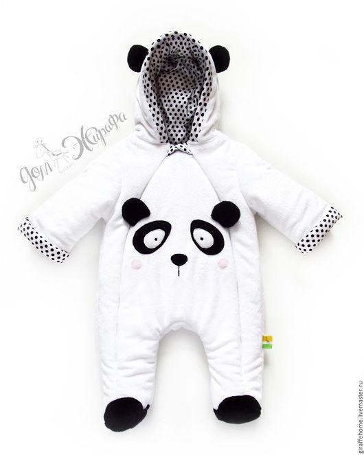 """Одежда ручной работы. Ярмарка Мастеров - ручная работа. Купить Комбинезон детский """"Панда"""". Handmade. Чёрно-белый, комбинезон"""