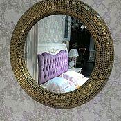 Для дома и интерьера ручной работы. Ярмарка Мастеров - ручная работа Зеркало в мозаичной раме, объемное золото. Handmade.