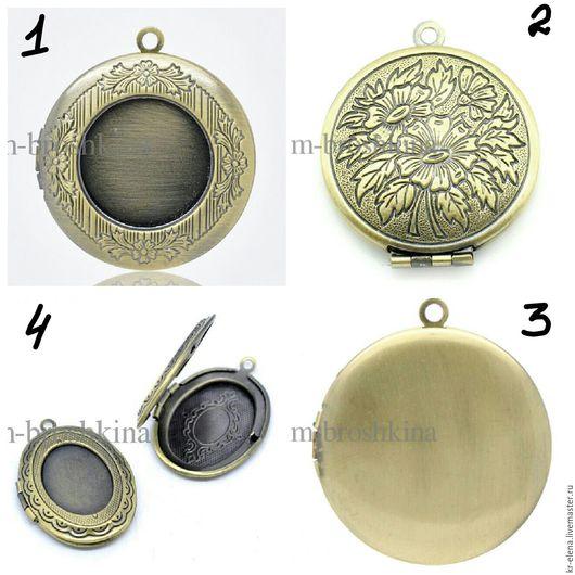 Для украшений ручной работы. Ярмарка Мастеров - ручная работа. Купить Медальон, основа для медальона Бронзовый, Серебряный, №3. Handmade.