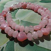 """Украшения ручной работы. Ярмарка Мастеров - ручная работа Колье """"Аврора-богиня утренней зари..."""" (розовый опал, розовый кварц). Handmade."""
