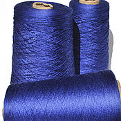 Материалы для творчества handmade. Livemaster - original item Yarn silk. Mulberry Silk. Color dark blue.. Handmade.