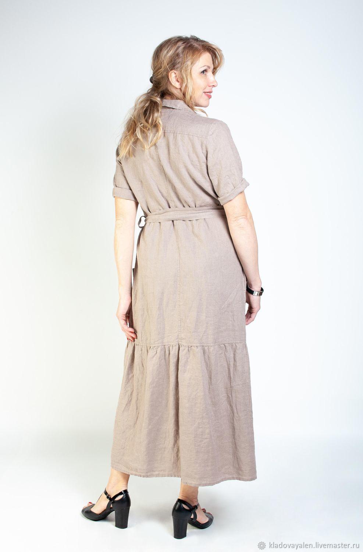 a5004a8f2a12e89 Платья ручной работы. Платье Сафари вываренный лен. Кладовая льна  (kladovayalen). Интернет