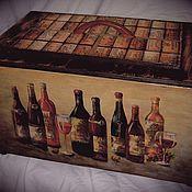 Для дома и интерьера ручной работы. Ярмарка Мастеров - ручная работа Ящик для хранения винных бутылок.. Handmade.