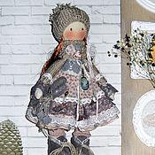 Куклы и пупсы ручной работы. Ярмарка Мастеров - ручная работа Кукла текстильная в пыльно-розовом, винтажная. Handmade.