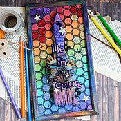 """Сувениры и подарки ручной работы. Ярмарка Мастеров - ручная работа Интерьерная рамка """"Life in colors"""". Handmade."""